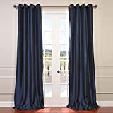 Cheap HPD HALF PRICE DRAPES Half Price Drapes PTCH-BO194010-84-GR Grommet Blackout Faux Silk Taffeta Curtain, Navy Blue