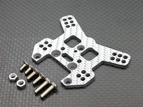 Graphite Damper - Kyosho Mini Inferno Upgrade Parts Graphite Rear Damper Tower With Screws (Multiple Colors) - 1Pc Set Silver