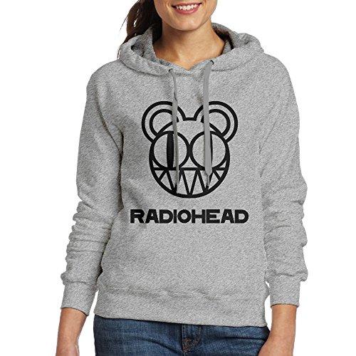FUOCGH Women's Pullover Radiohead Hoodie Sweatshirts Ash S