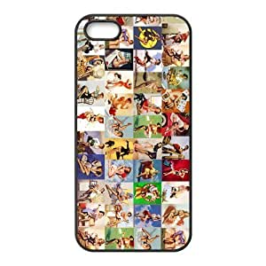 Colorful Pin-Up Girls Hard Hot Design Phone Cover Case for iPhone 5,5S Cases