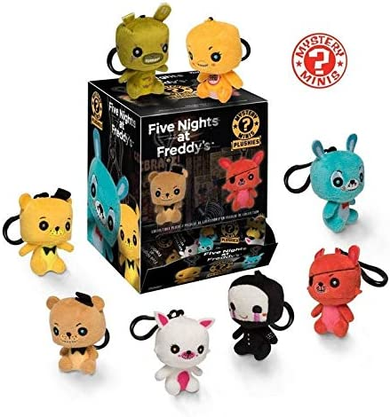 Funko Five Nights at FreddyS Mystery Minis Plush Keychain Display Case: Amazon.es: Juguetes y juegos