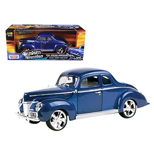 Ford Coupe Deluxe Hard Top (1940, (1:18) scale diecast model car, Blue) 1940 Ford Custom Coupe