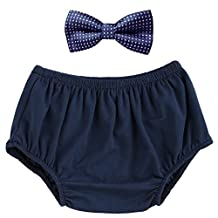 Baby Boy Bow Tie Diaper Bloomers Set Tuxedo Cake Smash 1st Birthday Clothes Outfits