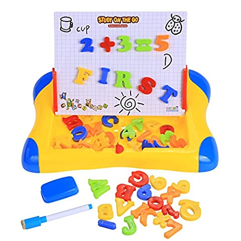 Arshiner Learning Easel Educational Drawing Board with Magnetic Numbers and Letters