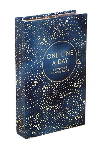 Celestial One Line a Day (Blank Journal for Daily Reflections, 5 Year Diary Book)