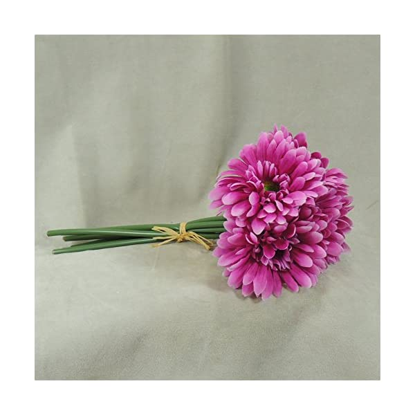 Mini Imitation Silk Hot Pink Daisy Bouquets- for Weddings, Parties, and Decor- 3 Bouquets with 6 Blooms Each a Total of 18 Blooms