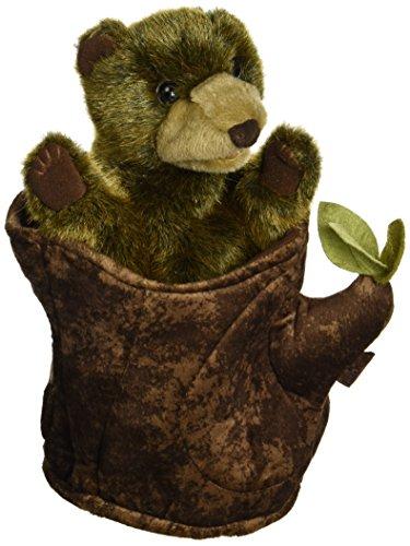 Folkmanis Bear in Tree Stump Hand Puppet (Arm Stump)