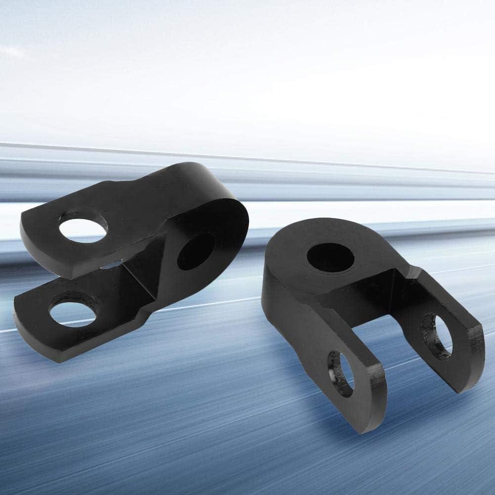 Duokon Motorcycle Black Chassis Heighter Device Amortiguador universal Thicken Pad Shock Aborbers dispositivo de elevaci/ón Sin tornillos