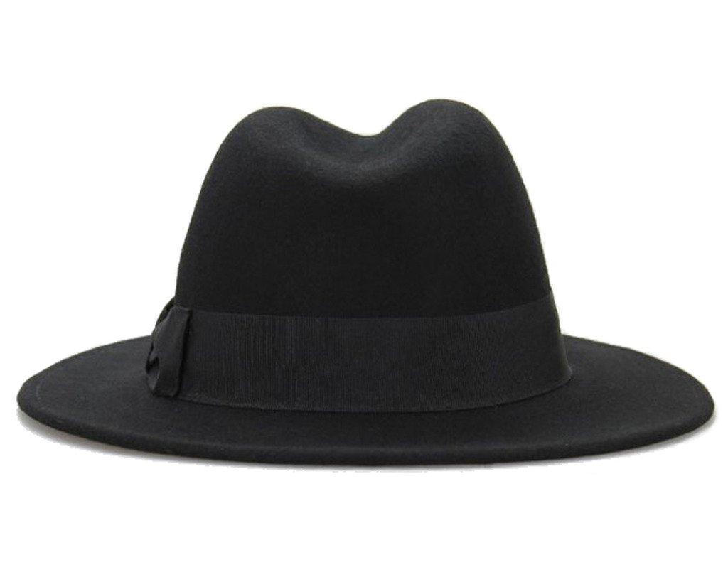 Big bowknot Wide-Brimmed 100% Wool Felt Hat Women's Jazz Cap Cowboy Hat Fedora Hat 4Color by Vitality Shop (Image #3)