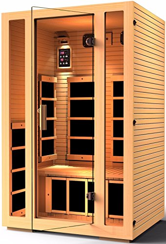 2 Person Far Infrared Sauna 7 Carbon Heater, Recovered Unit /safe Confident -FSC Certified