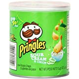 Pringles Potato Crisps Chips, Sour Cream and Onion Flavored, Grab and Go, Bulk Size, 16.8 oz (Pack of 12, 1.4 oz Cans)