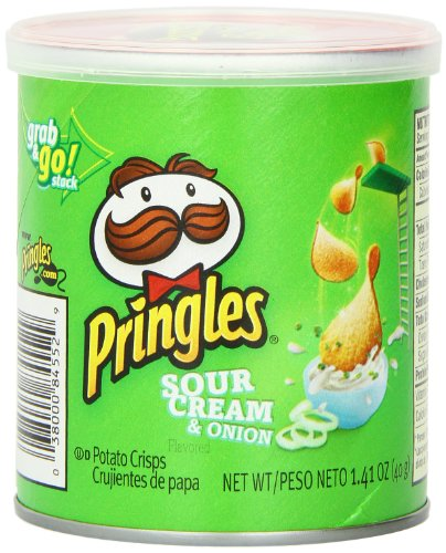 Pringles Sour Cream and Onion Small Stacks, 1.41 Ounce (Pack of 12) (Cream Sour Chips)