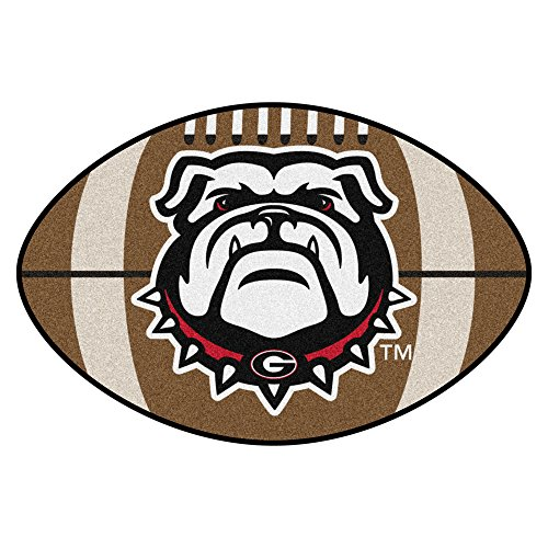 (NCAA University of Georgia Bulldogs Football Shaped Mat Area Rug)