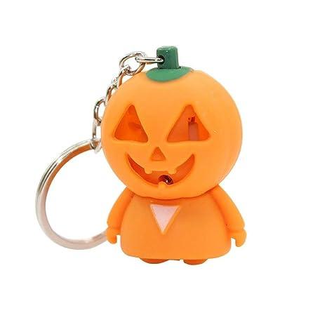 TrifyCore Llavero de Halloween Calabaza Fantasma LED Sonido ...