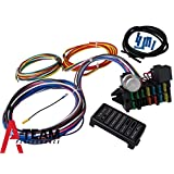 A-Team Performance 12 CIRCUIT UNIVERSAL WIRE HARNESS MUSCLE CAR HOT ROD STREET ROD NEW XL WIRES
