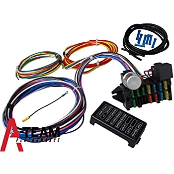 amazon com street rod universal 14 fuse 12 14 circuit wire harness rh amazon com hot rod wiring harness uk Best Street Rod Wiring Harness