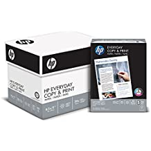 HP Printer Paper, Copy and Print, 20lb, 8.5 x 11, Letter, 92 Bright - 2,400 Sheets / 6 Ream Carton (200010C) Made In The USA