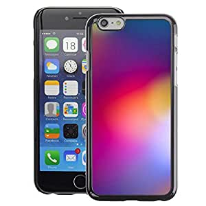 A-type Arte & diseño plástico duro Fundas Cover Cubre Hard Case Cover para Apple (4.7 inches!!!) iPhone 6 / 6S (Blurry Purple Yellow Lights Color Colors)
