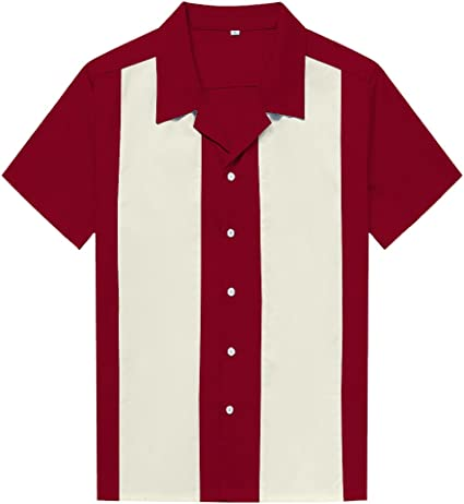 Candow Look Camisa Hombre Bowling Shirts Plus Size Two Tone Casual Shirts: Amazon.es: Ropa y accesorios