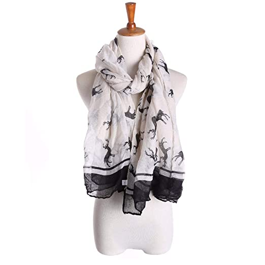 d9237d0f49b4 Clearance Scarf for Women, WUAI Christmas Fashion Ladies Elk Pattern ...