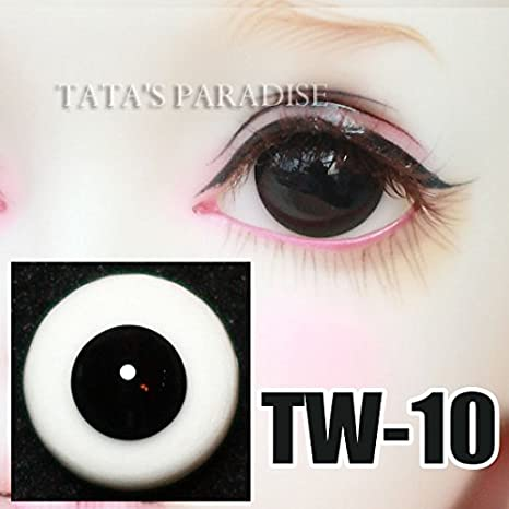 935d465e484 Amazon.com: 18mm Half Round Glass Pure Black without Pupil Eyes ...