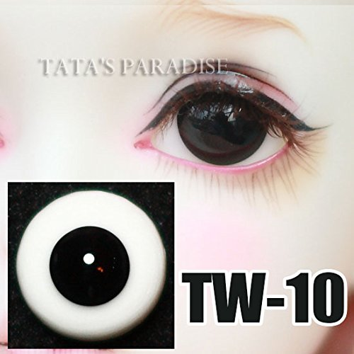 Amazon.com: 16mm Half Round Glass Pure Black without Pupil Eyes / BJD Doll Eyes / Custom-made Eyes Eyeball For Halloween: Toys & Games