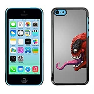 New Case AMAZING-BASE Smartphone Funny Back Image Picture case cover protective Black Edge for Apple Iphone 5C iWpreH3Cyj0 - Red Venom Monster