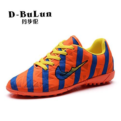 Xing Lin Fußballschuhe Sommer Mesh Atmungsaktiver Gebrochen Nägel Fußball Schuhe Für Männer Und Frauen Nach Tf Nagel Künstliche Erde Schuhe Orange