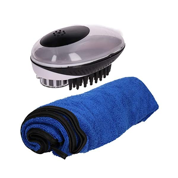 Dog Grooming 2 in 1 Dog Bath and Groom Brush with Towel 1