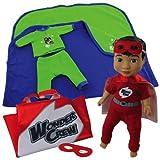 """Wonder Crew(R) 15"""" Superhero Buddy Erik & Snuggler Pajamas"""