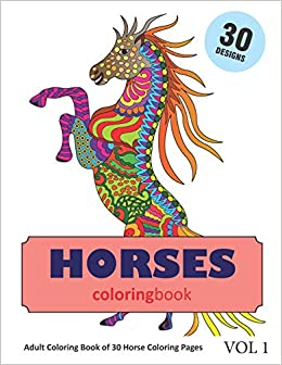 Amazon.com: Horse Coloring Book: 30 Coloring Pages of Horses ...