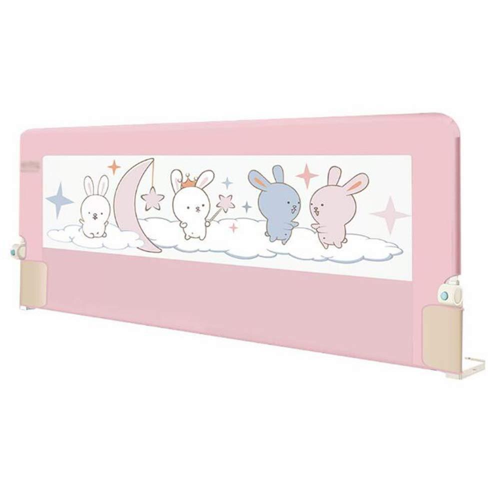 GXYAWPJ ベッドレール、エクストラワイドベッドレイル、ポータブルおよび折りたたみ式ベッドレール、ピンク (色 : ピンク, サイズ さいず : 1.5m) 1.5m ピンク B07S3NBY22