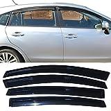 Window Visors Fits 2013-2017 Subaru XV Crosstrek and 2012-2016 Impreza Hatchback | Factory Style Smoke Acrylic Sun Rain Shade Guard Wind Vent Air Deflector by IKON MOTORSPORTS | 2014 2015