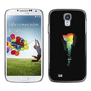 KLONGSHOP // Cubierta de piel con cierre a presión Shell trasero duro de goma Protección Caso - Ciudad Colores - Samsung Galaxy S4 //