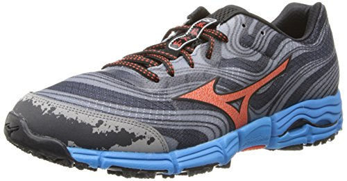 Mizuno Men's Wave Kazan Trail Running Shoe,Gunmetal/Tange...