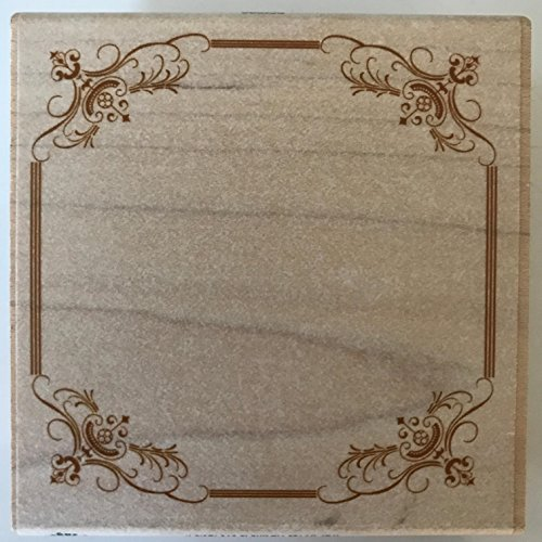 - Plaid Anna Griffin Wood Mounted Stamp, Fancy Cartouche