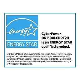 CyberPower OR1500LCDRT2U 1500VA 900W Smart App Intelligent LCD UPS SNMP,HTTP Rack, Tower