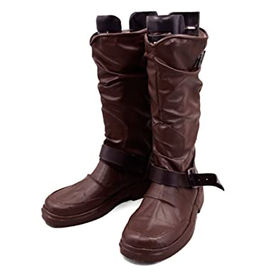2ae2540e5ed5 Amazon.com  Xcoser Noragami Yato Kami Boots Brown PU Fashion Mens Cosplay  Costume Shoes  Clothing