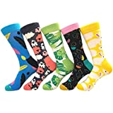 BeBold 4 Pairs gift Boxed Mens Combed Cotton Socks Funny Fashion Casual Dress Socks Trend Hip Hop Colourful Compression…