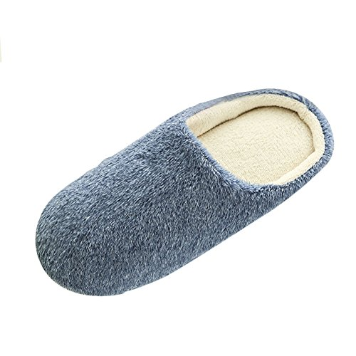 Norbi Unisex Home Indoor Wasbaar Comfort Pluche Anti-slip Slippers Schoenen Marine