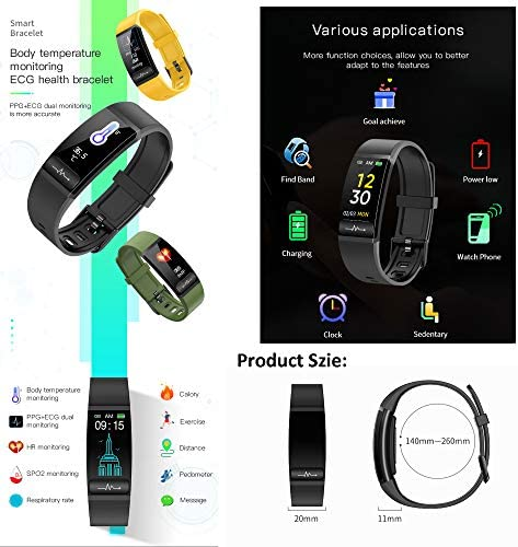 Smart Watch, Hongmed Fitness Watch for Android phones and iPhone Compatible, with Body Temperature Blood Pressure Oxygen Monitor, Waterproof Pedometer Activity Tracker With Sleep Monitor for Men Women 7