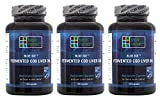 BLUE ICE Fermented Cod Liver Oil -Non-Gelatin Capsules (Pack of 3)