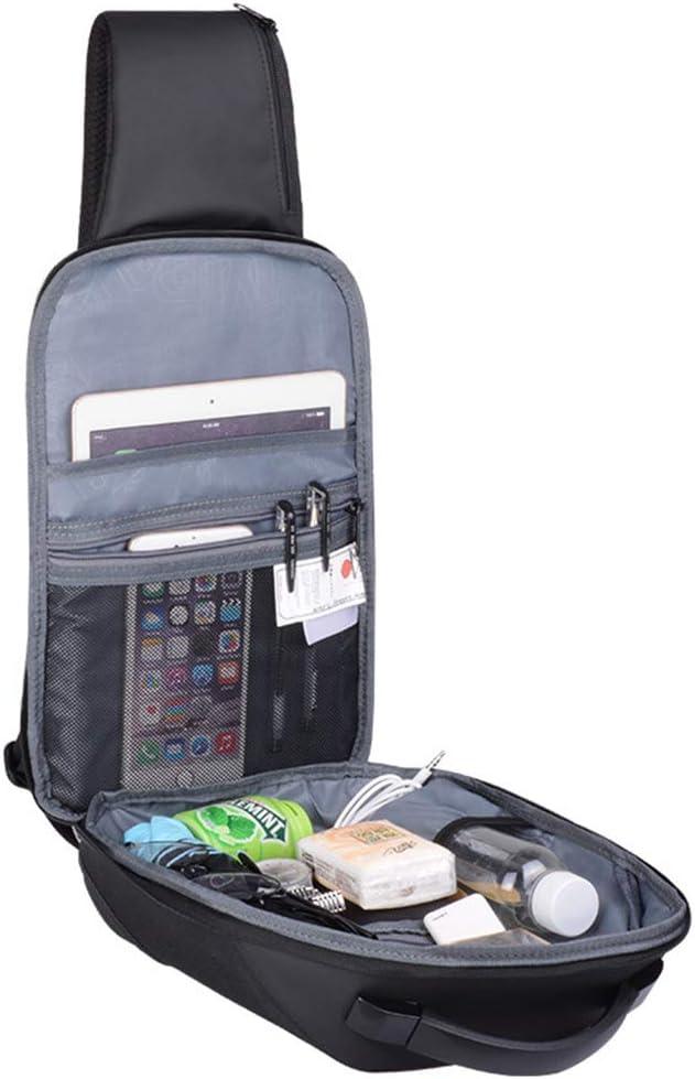 SENKEY Sac de Poitrine pour Homme avec Interface de Charge USB Externe Sac /à bandouli/ère imperm/éable Messenger Bag