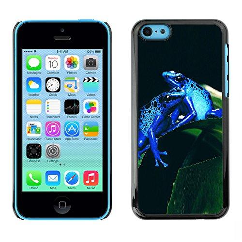 Omega Case PC Polycarbonate Cas Coque Drapeau - Apple iPhone 5C ( Cool Neon Blue Jungle Frogs )