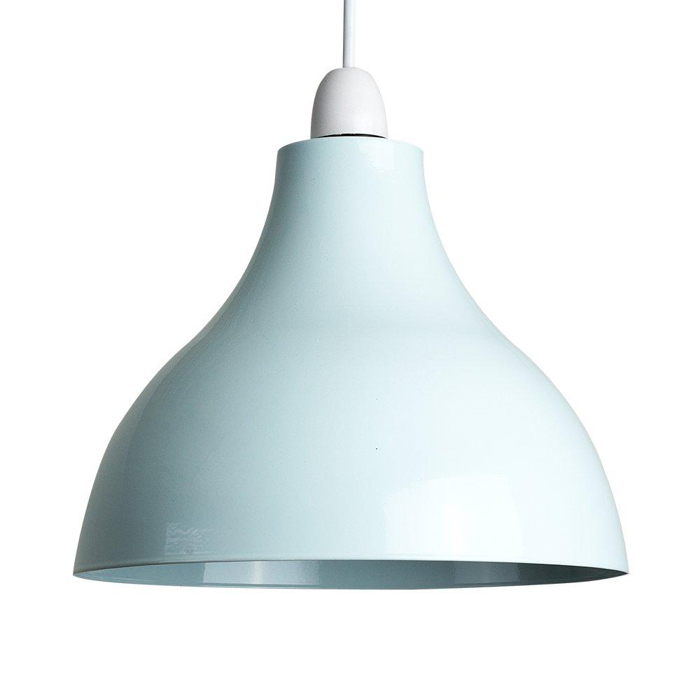 MiniSun - Retro Style Duck Egg Blue Metal Ceiling Pendant Light ...