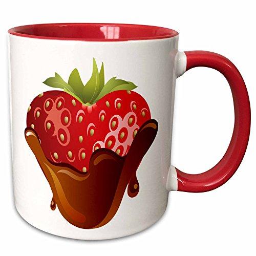 3dRose mug 211053 5 Strawberry Chocolate Graphic