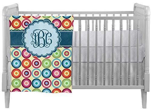- Retro Circles Crib Comforter/Quilt (Personalized)