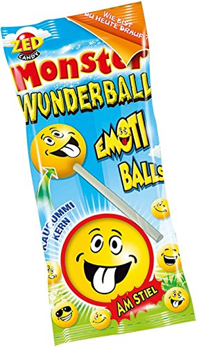 (ZED Candy Monster miracle ball popsicles Emoji Balls 15 Pieces)