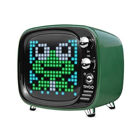 LIANGMENGJIN Altavoz Bluetooth Portátil Reloj Led Despertador Inteligente Compatible con Aplicaciones De Escritorio, 100 ×