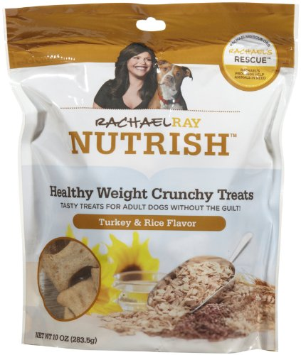 Rachael Ray Nutrish Healthy Weight Turkey & Rice Dog Treats, 10-oz bag